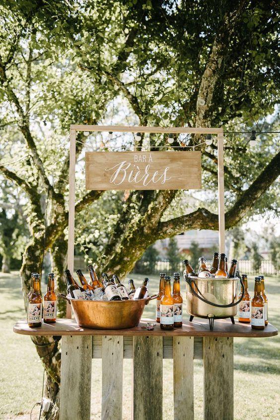 Bar à bières mariage